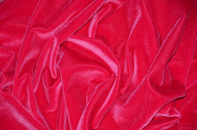 Fuschia Stretch Velvet Fabric