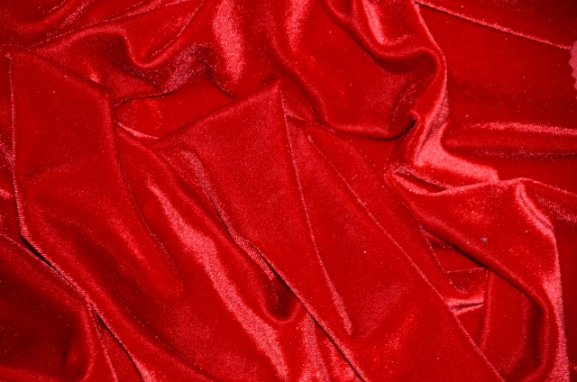 Red Stretch Velvet Fabric