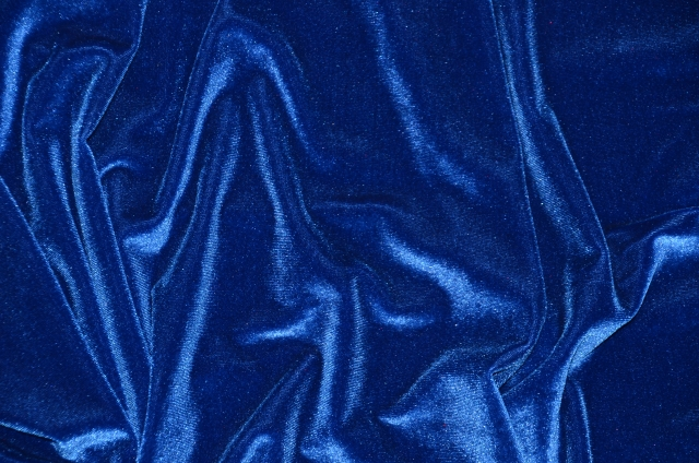 Royal Blue Stretch Velvet Fabric