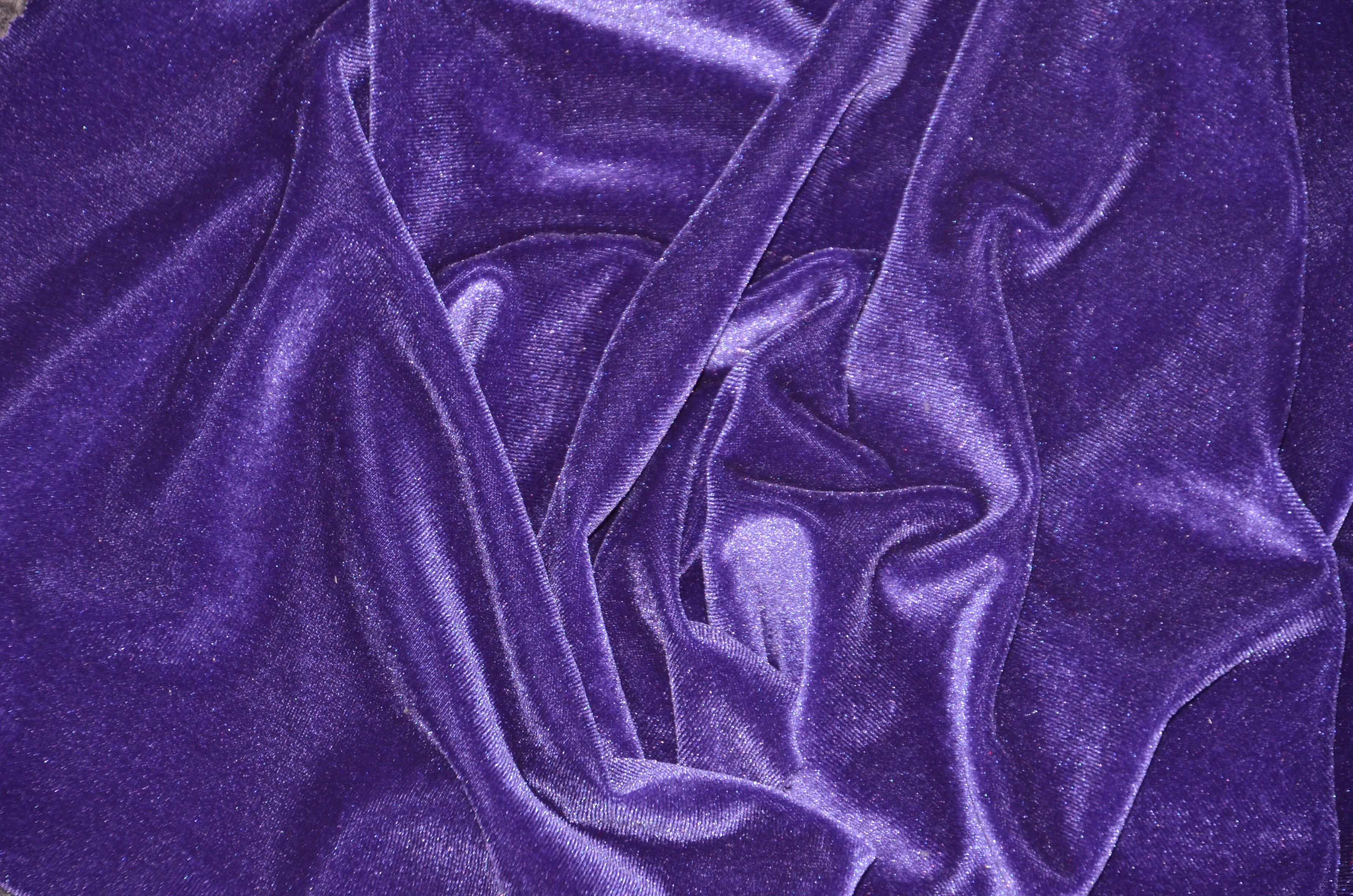 Purple Stretch Velvet Fabric