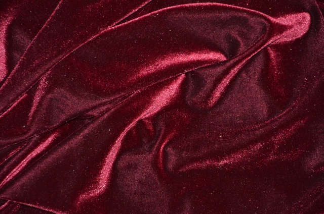 Burgundy Stretch Velvet Fabric