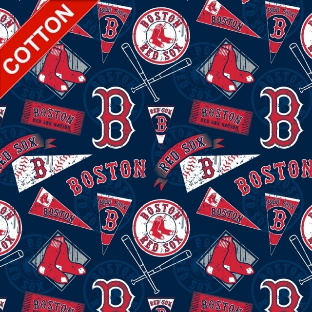 Boston Red Sox MLB Cotton Fabric