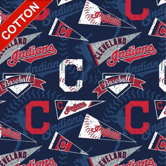 Cleveland Indians Allover MLB Cotton Fabric