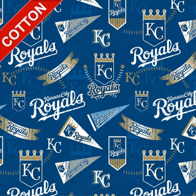 Kansas City Royals MLB Cotton Fabric