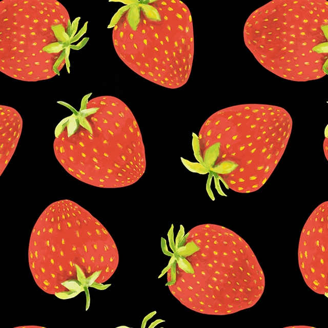Strawberry Fleece Fabric