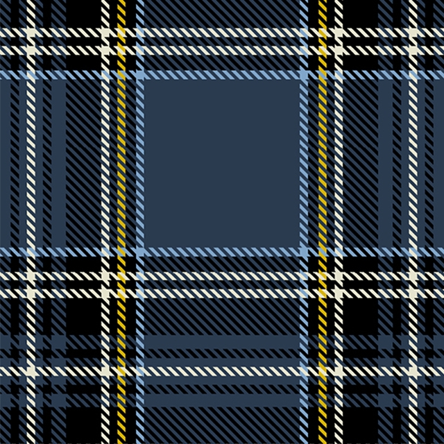 Navy Stewart Plaid Fleece Fabric