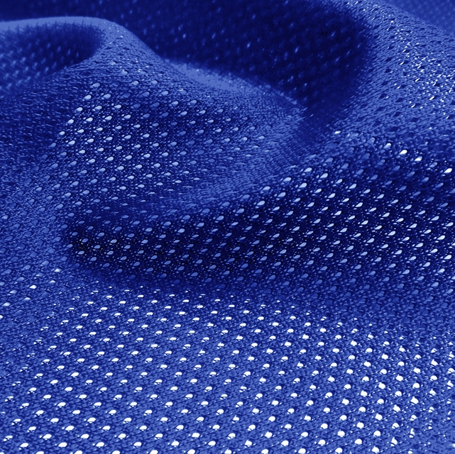 Royal Blue Micro Mesh Jersey Fabric