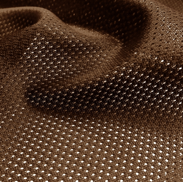 Brown Micro Mesh Jersey Fabric