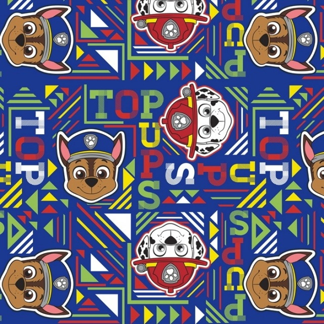 Paw Patrol Top Pups Police & Fireman Fleece Fabric