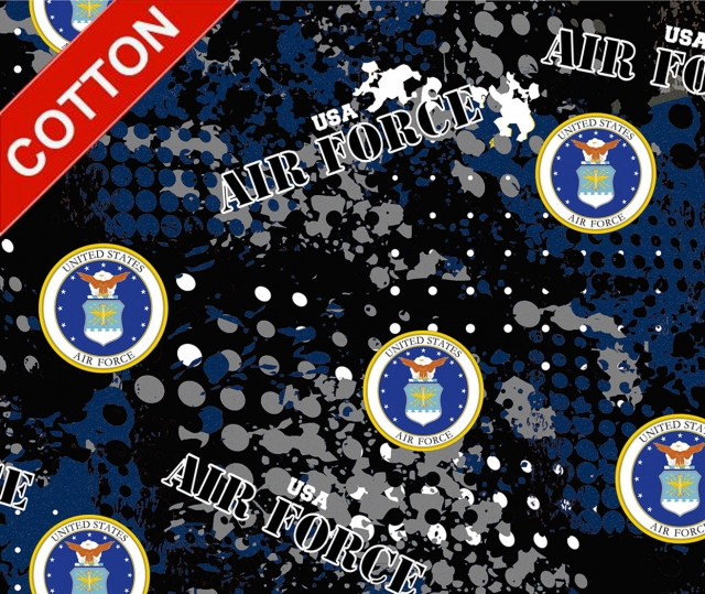 United States Air Force Digital Cotton Fabric