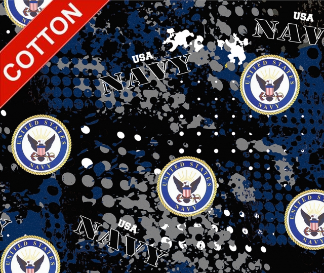 United States Navy Digital Cotton Fabric