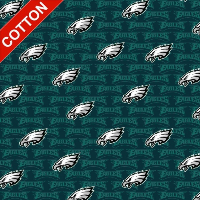 Philadelphia Eagles Emblem NFL Cotton Fabric