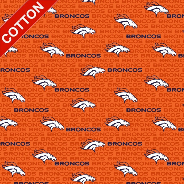 Denver Broncos Emblem NFL Cotton Fabric