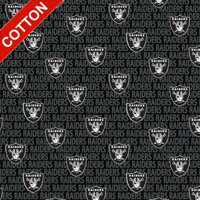 Oakland Raiders Emblem NFL Cotton Fabric