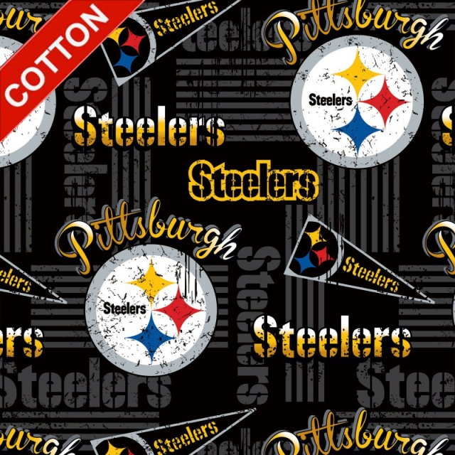 Pittsburgh Steelers Retro NFL Cotton Fabric