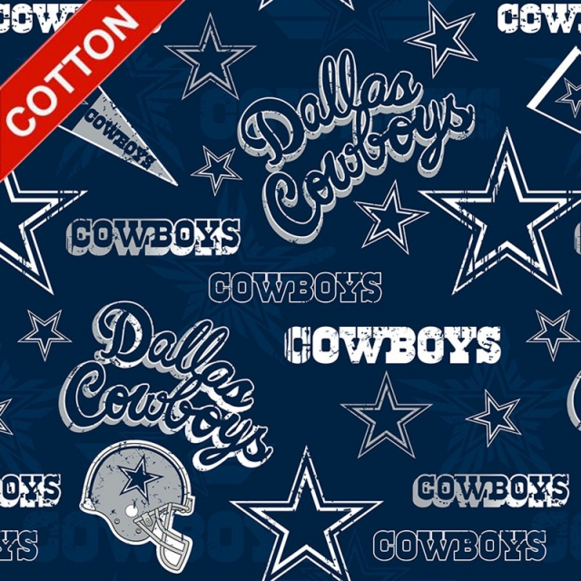 Dallas Cowboys Retro NFL Cotton Fabric