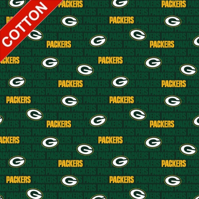 Green Bay Packers Emblem NFL Cotton Fabric