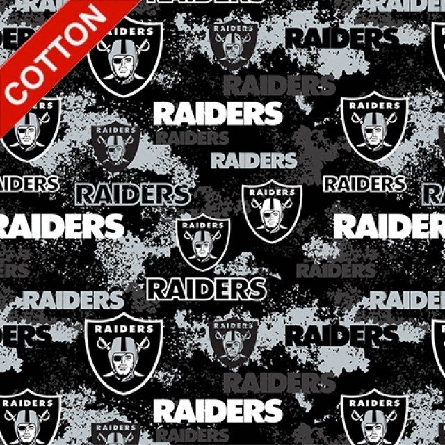 Oakland Raiders Digital NFL Cotton Fabric