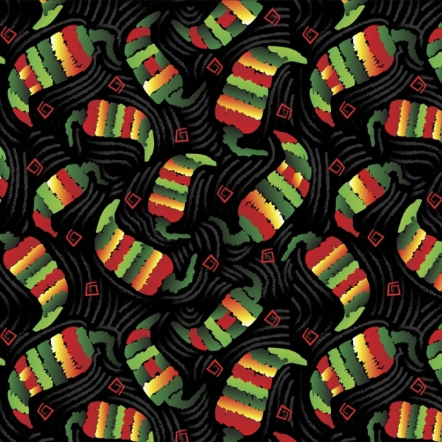 Chilis Peppers Confetti Fleece Fabric