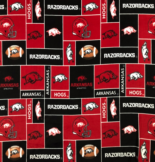 University of Arkansas Razorbacks Fleece Fabric
