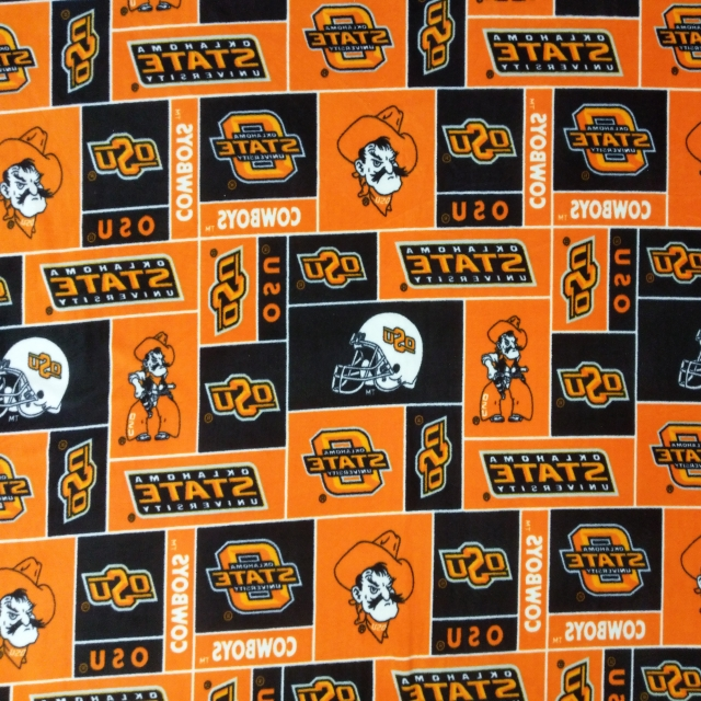Oklahoma State University Cowboys Fleece Fabric
