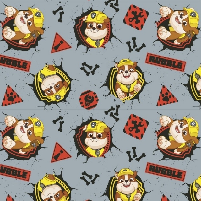 Paw Patrol Construction Rubble Fleece Fabric