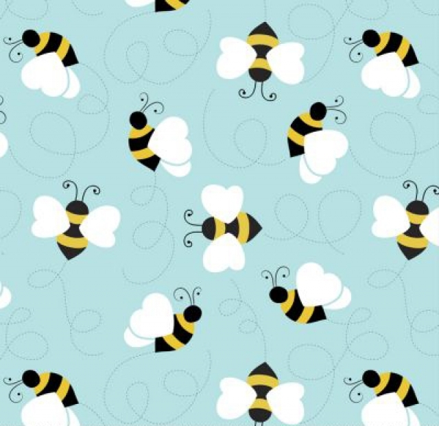 Bumble Bees Fleece Fabric