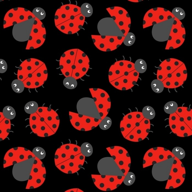 Ladybug Crowd Fleece Fabric