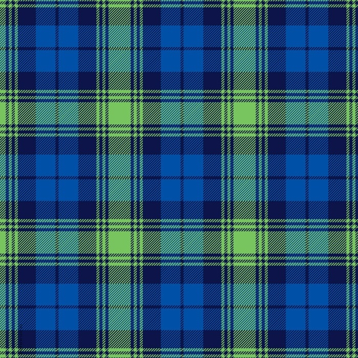Blue & Green Plaid Fleece Fabric