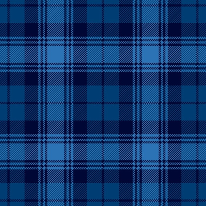 Navy Plaid Fleece Fabric