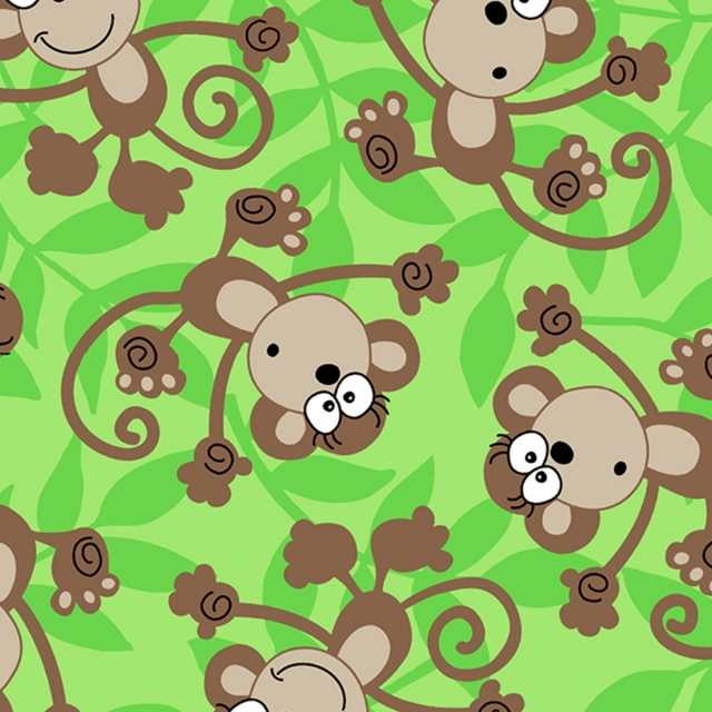 Funky Monkey Fleece Fabric