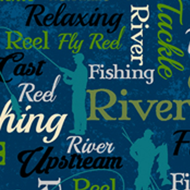 Fly Fishing Fleece Fabric