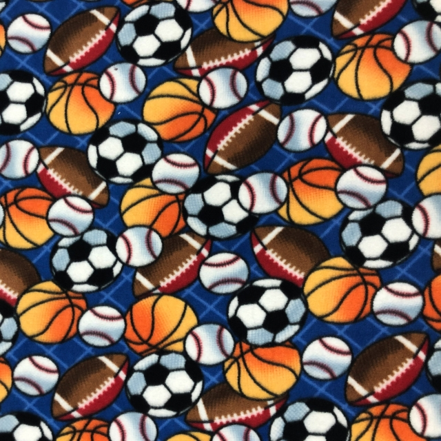 Sports Balls Allover Fleece Fabric