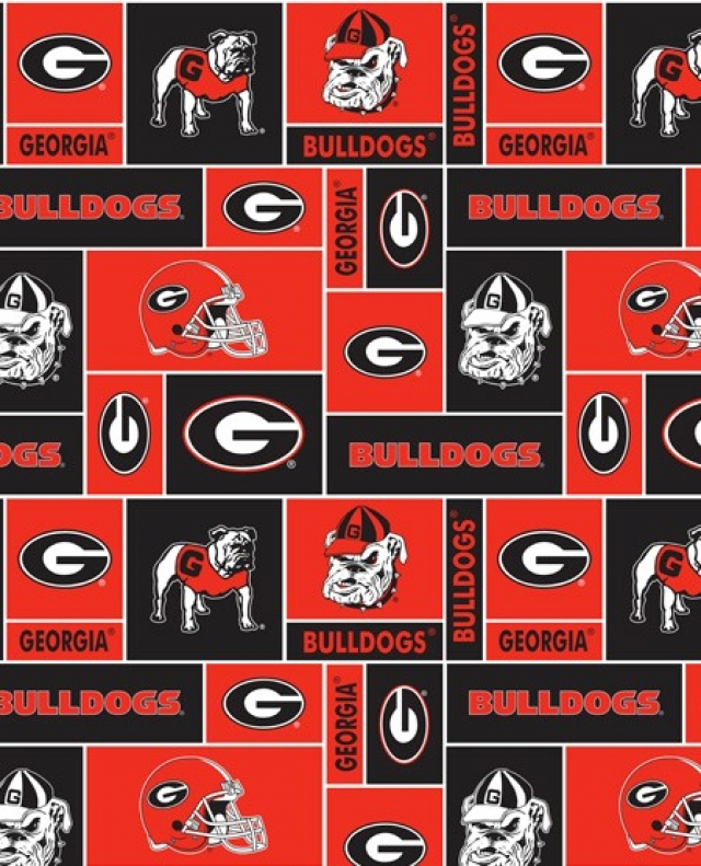 University of Georgia Bulldogs Fleece Fabric