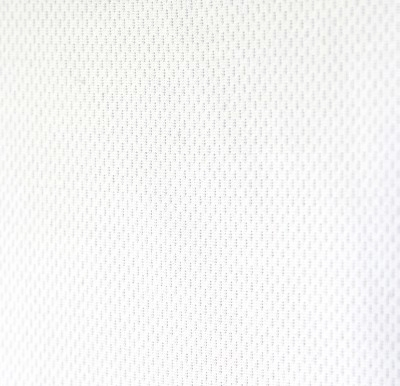 White Flat Back Dimple Mesh Fabric