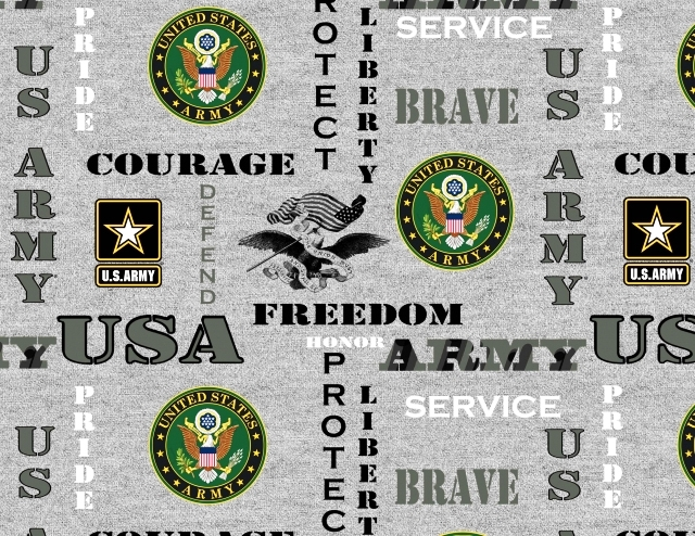 United States Army Heather Fleece Fabric