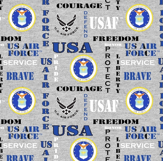 United States Air Force Heather Fleece Fabric
