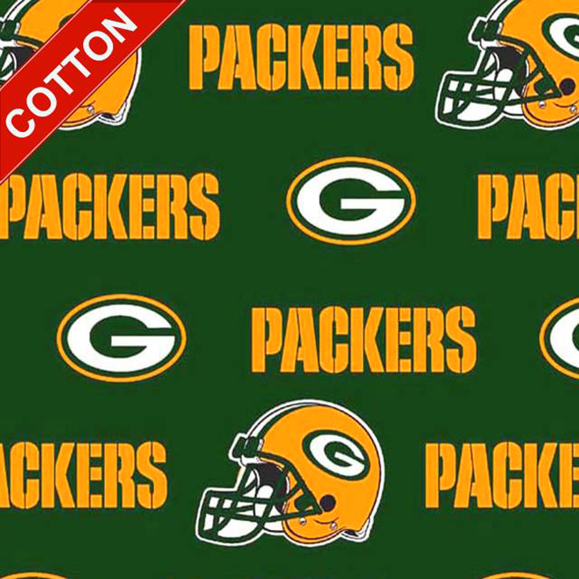 Green Bay Packers Allover NFL Cotton Fabric
