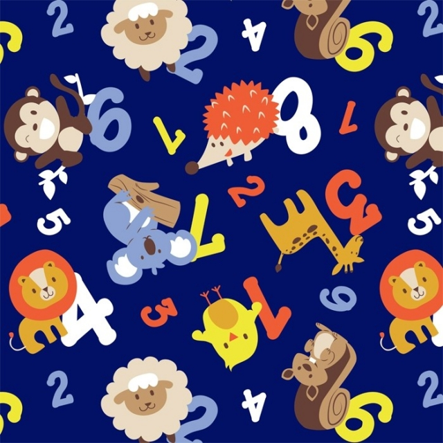 Lets Count Fleece Fabric