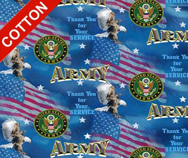 Military Flags Army Cotton Fabric