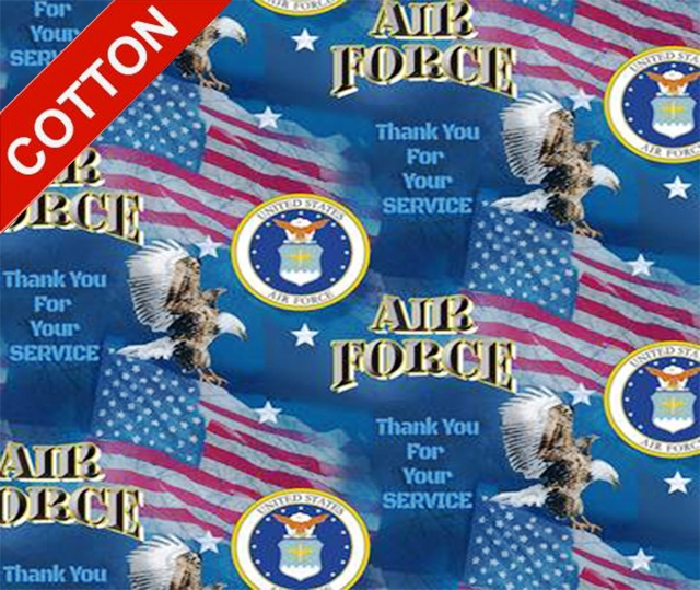 Military Flags Air Force Cotton Fabric