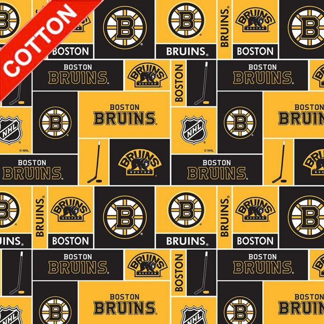 Boston Bruins NHL Cotton Fabric