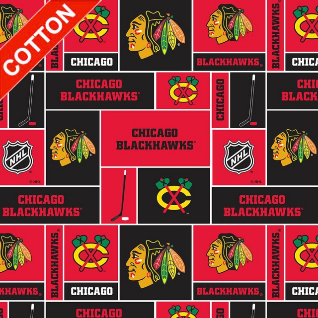 Chicago Blackhawks NHL Cotton Fabric