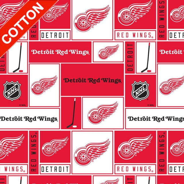 Detroit Red Wings NHL Cotton Fabric