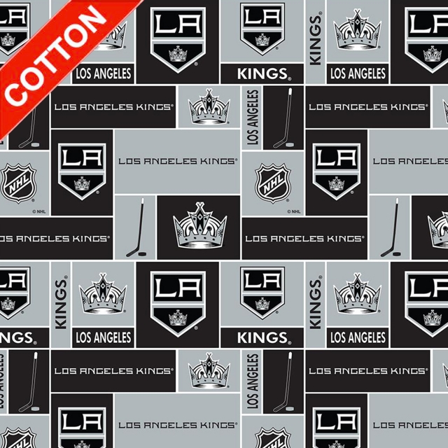Los Angeles Kings NHL Cotton Fabric