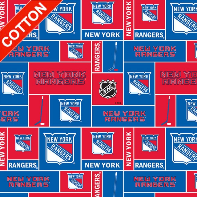 New York Rangers NHL Cotton Fabric