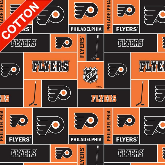 Philadelphia Flyers NHL Cotton Fabric