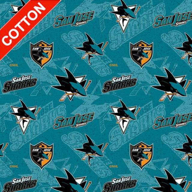 San Jose Sharks NHL Cotton Fabric