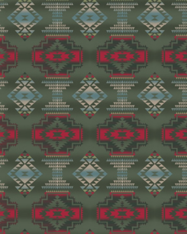 Windrunner Red Native American Fleece Fabric
