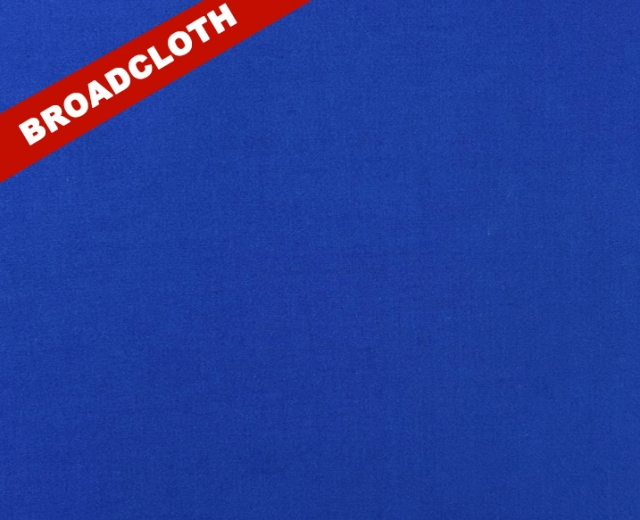 Royal Blue Polyester Cotton Broadcloth Fabric